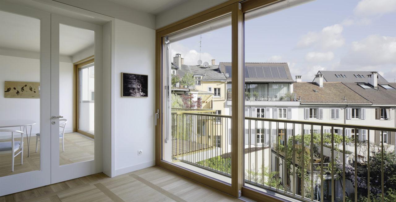 Wohnräume im 2.Obergeschoss nach Umbau von Architekturbüro Forsberg in Basel