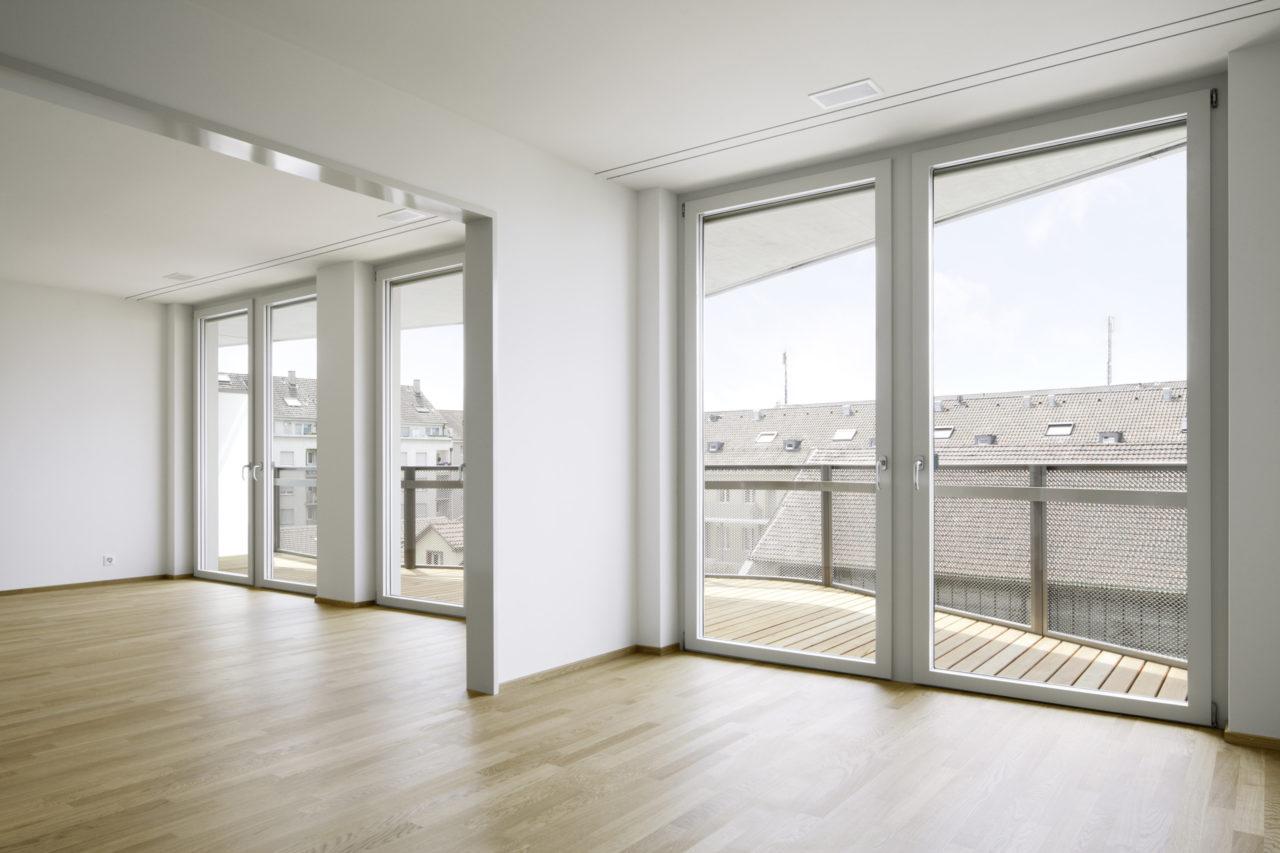 Wohnung 4.Obergeschoss, Neubau Geschäftsstelle Schweizerisches Rotes Kreuz von Architekturbüro Forsberg in Basel mit Malin Lindholm