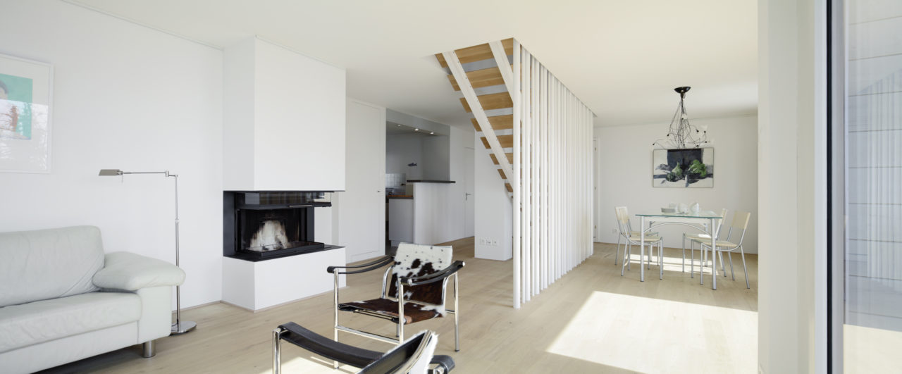 Neue Treppe nach Umbau von Architekturbüro Forsberg in Basel