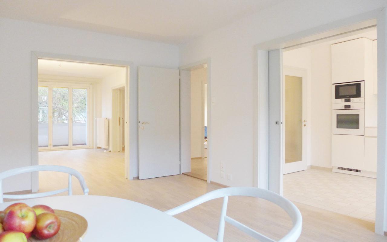 Esszimmer im 1.2.Obergeschoss nach Umbau und Renovation von Architekturbüro Forsberg in Basel