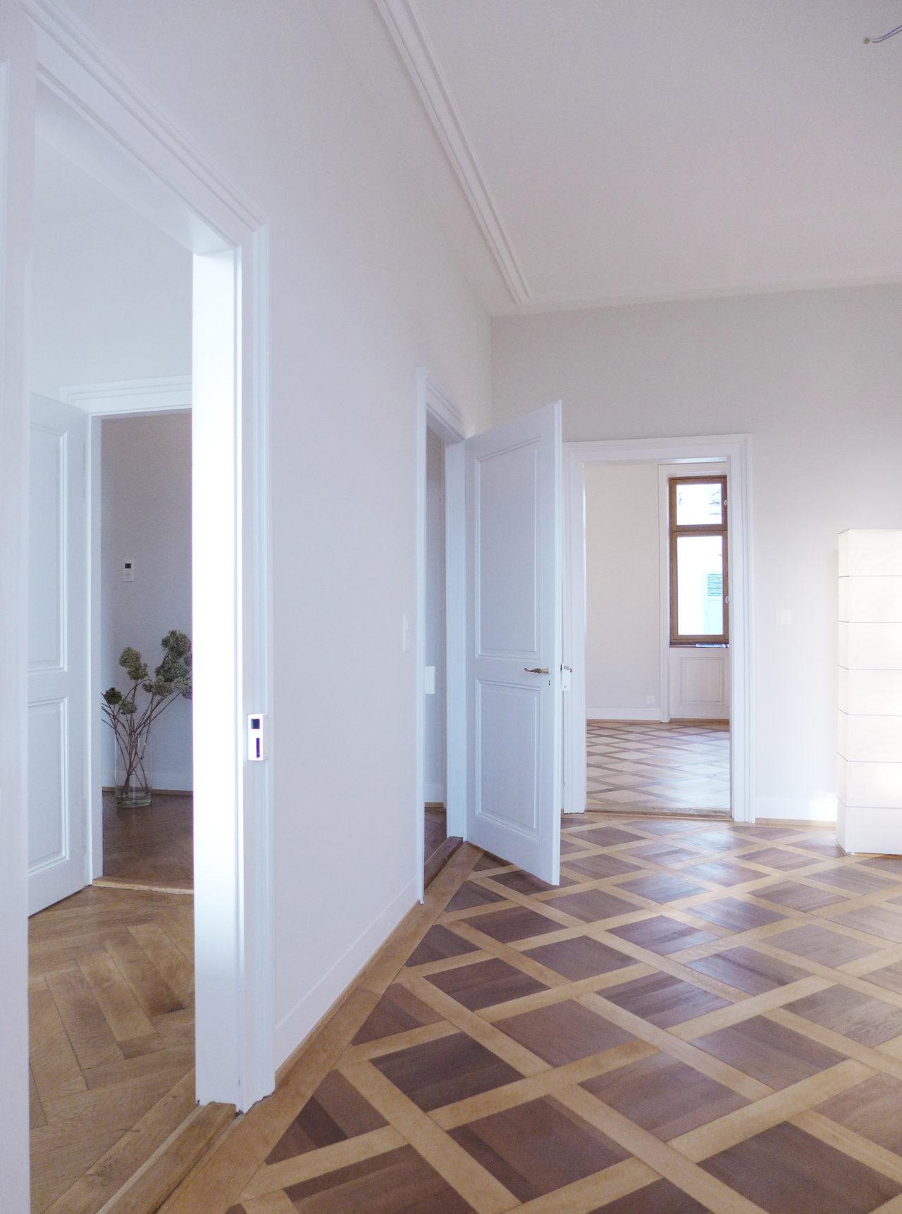 Wohnräume im 1.Obergeschoss nach Umbau und Ausbau (Dachausbau)von Architekturbüro Forsberg in Basel